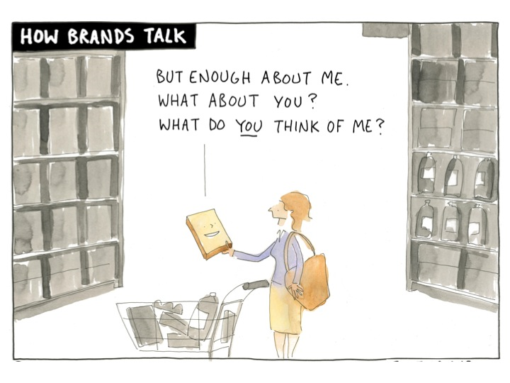 Hoe merken praten