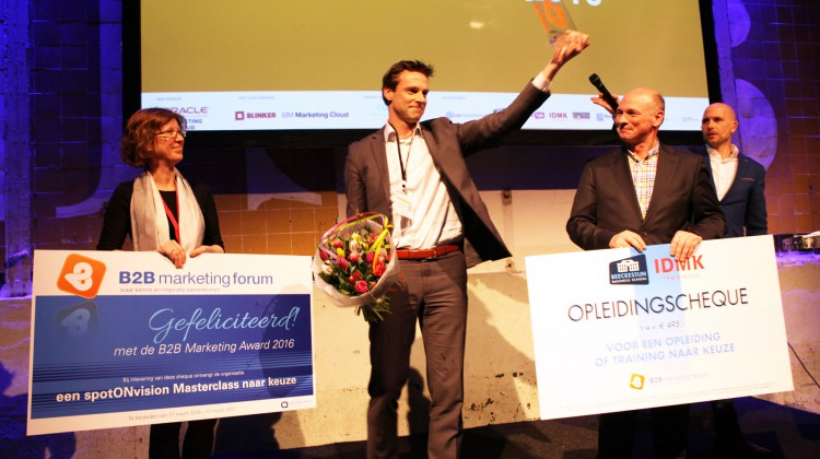 b2b marketing award 2016 winnaar