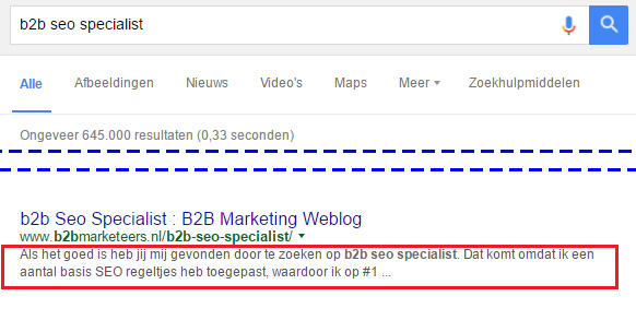 b2b blogger seo voorbeeld