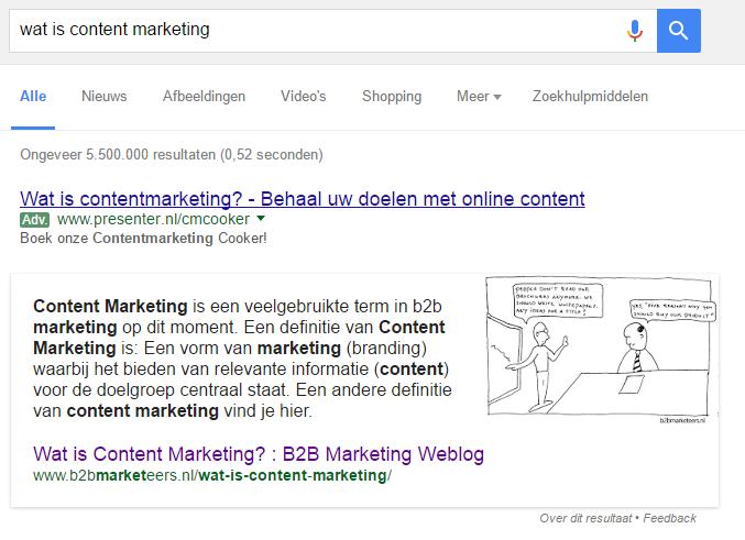 B2B content marketing voorbeeld