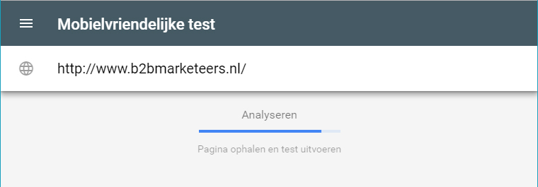 mobile-first-indexing test google b2b