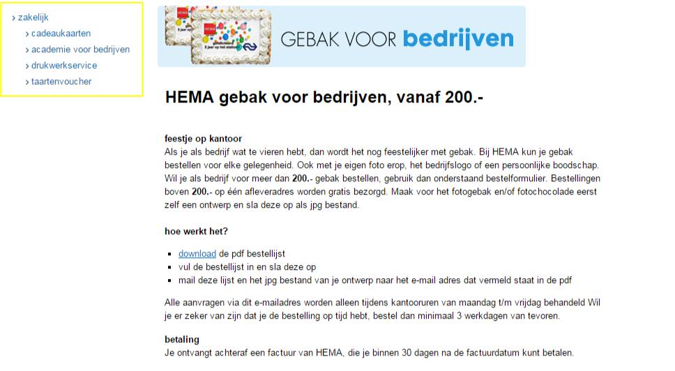 HEMA b2b