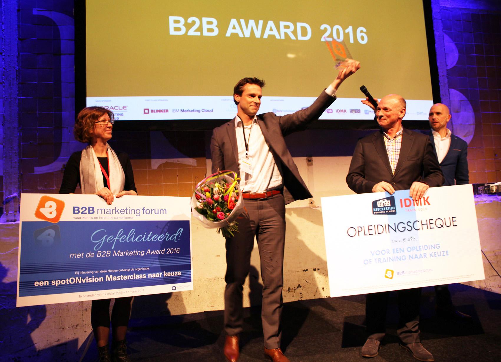 b2b marketing award 2016 winnaar