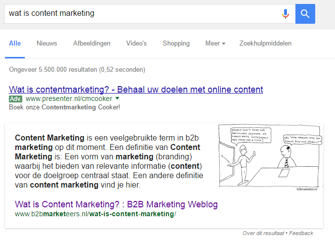 B2B content marketing voorbeeld