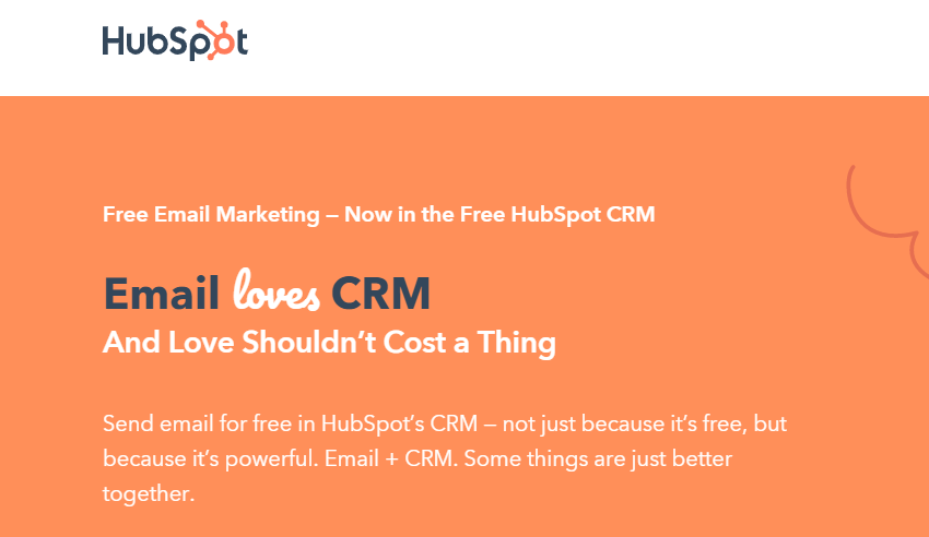 hubspot email crm