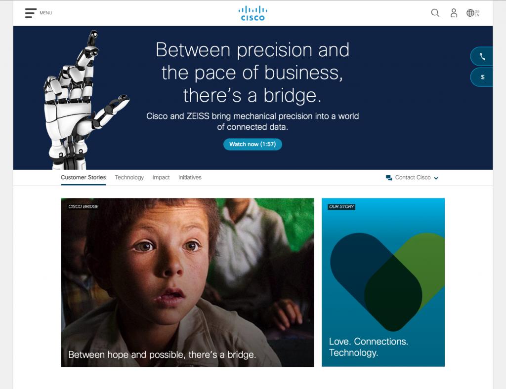b2b content marketing voorbeeld Cisco