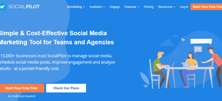 socialpilot review afbeelding homepage