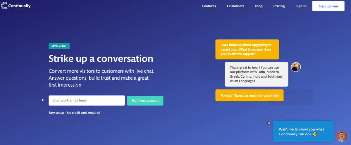 chat software continually